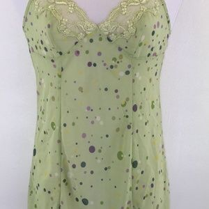 Victorias Secret Green Polka Dot Night Gown